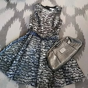 Nine West Sleeveless Fit and Flare Party Dress 8